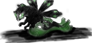 first try to draw and colour Zygarde -.-