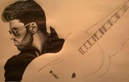 working on this george michael by badamanks