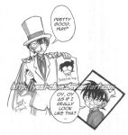 Kaito Kid and Conan by yesi-chan