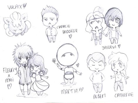 Little Chibis. :O: by Berry-licious