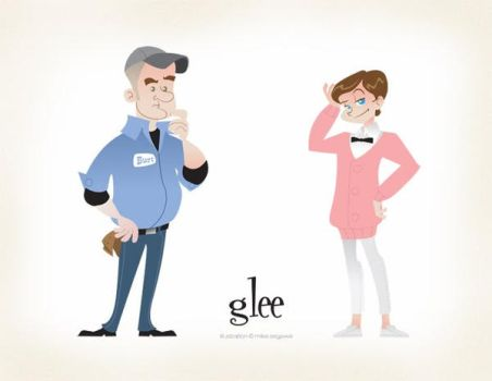 Burt and Kurt Hummel from Glee by mikeysammiches