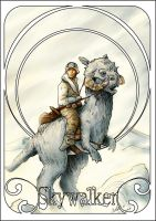 Luuk on Tauntaun - art deco by antonvandort