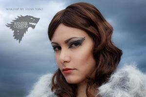 STARK makeup - Game of Thrones inspired by Yukilefay