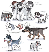 Washizu and MISC doggies by emlan