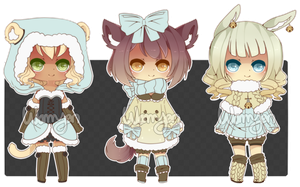 [CLOSED] Winter Kemonomimi Adopts by WanNyan