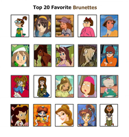 My Top 20 Brunettes by PrincessBeautiful