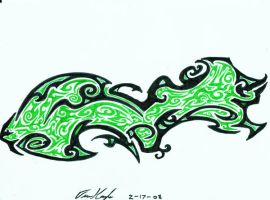green crystal tribal by shayde1