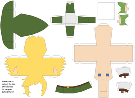 FSA Green Link Papercraft Template by Huski-Fan