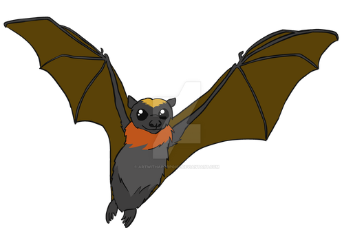 Gold Crowned Flying Fox - Fitz by artwithaporpoise