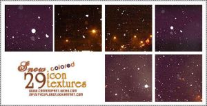 29 icon textures: 'colored' snow by infinityexplorer