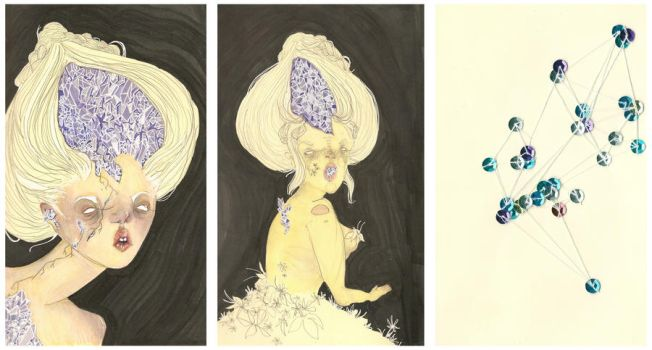 crystal cave triptych by AutumnIsnt