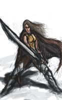 Female Warrior. by Paper-pulp