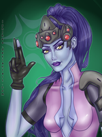 Overwatch fanart / Widowmaker by Lynthea