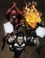 Marvel Knights colored by Niggaz4life