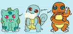Pokemon: Kanto Starderps by Guiled-Dragon