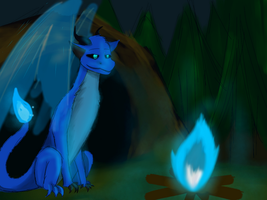 Blue Fire - Redraw - Version 1 by BorelightArt