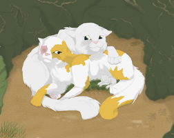Brightheart X Cloudtail by RooksRookery