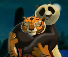 kung fu panda: Po and Tigress by Rocio-Aj
