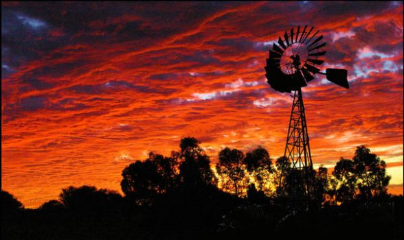 Outback Windmill by cheekypink