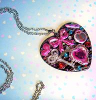 key to my heart resin necklace by prheat