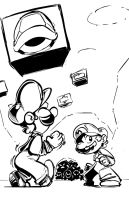 Mario+LuigiRPG - You gonna make a move? by SkipperWing