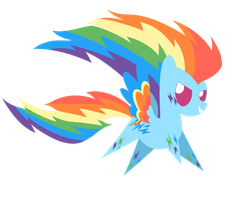 Rainbow Rainbow Dash by Dragonfoorm