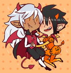 Halloween Val n Fenfen by DarkChibiShadow