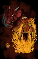 Fire Breather Pin up colors by JoeyVazquez