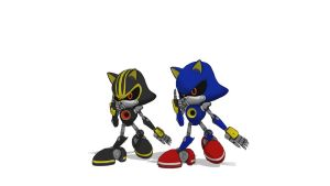 (MMD): Metal Sonic and Metal Sonic 3.0 UPDATE!! DL by Modern-Sonic