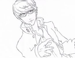 Persona 4 G Lineart by samui153