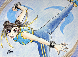Alpha Style Chun-Li by Mayleth