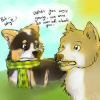 Two Corgis by xMarrux