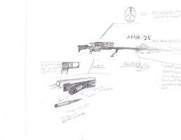 AMR-25 Anti Material Rifle by ANx3h
