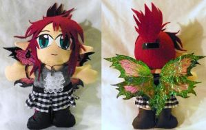 Plushie - Thistle Punk Faerie by mihijime