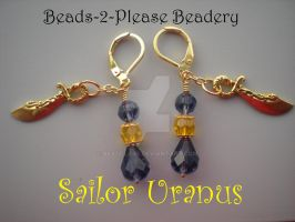 Sailor Uranus Inspired Earrings by beadclass