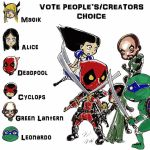 VOTE. PEOPLE'S AND CREATOR'S CHOICE by taurence