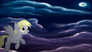 Derpy Hooves Flying Wallpaper by armando92