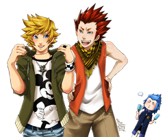 KH - Ventus, Lea and Isa by Sardiini