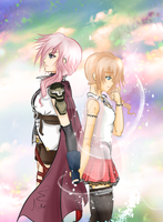 Forgive me.. - Light and Serah by Nekoi-Echizen