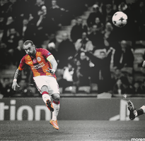 Wesley Sneijder by morenPosters