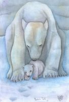 Mamma polar bear by julyie