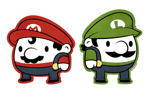 Mario and Luigi by beyx