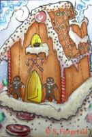 Gingerbread House ACEO by SashaFitzgerald