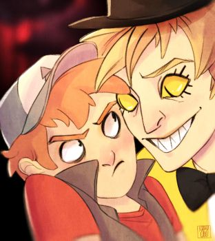 Selfie with Bill by Icaru-Owl