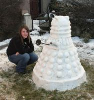 SNOW DALEK by Loftio