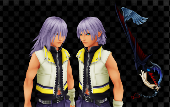 [MMD] Riku DDD and KH2 FM - DL!! by Otzipai-Art