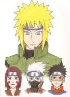 Yondaime team by Cloudyh