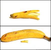 Polymer Clay Banana - Attempt 1 by Bon-AppetEats