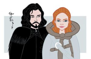 Game of Thrones - Jon Snow and Ygritte by howardshum