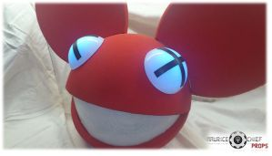 RED Deadmau5 head Replica by MauriceChiefProps by Mauricechief